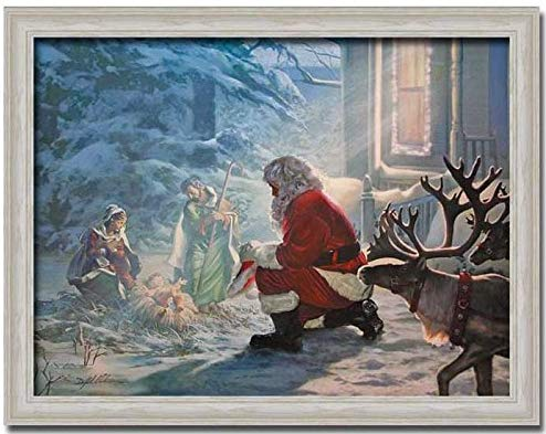 Amazon.com: Santa Claus Nativity Jesus Christmas Gift Print.