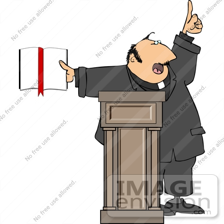 Preacher Giving a Speech Clipart.