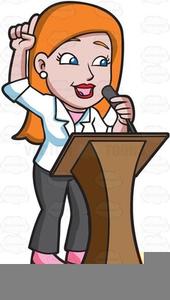 Woman Preacher Clipart.