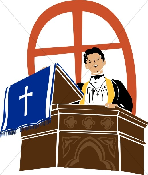 Preacher on a Pulpit.