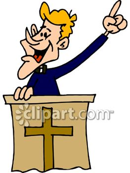Preacher and pulpit clipart image.
