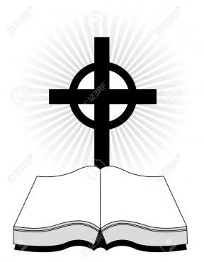 Preacher Standing Silhouette Clipart