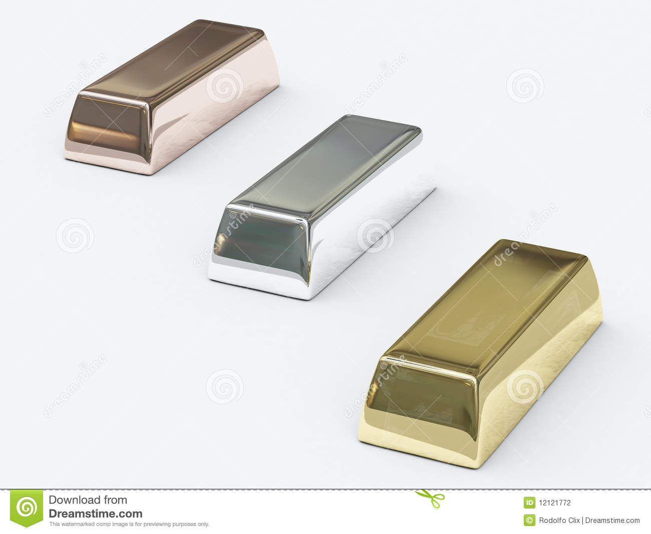 Bars Of Precious Metals Stock Photography.