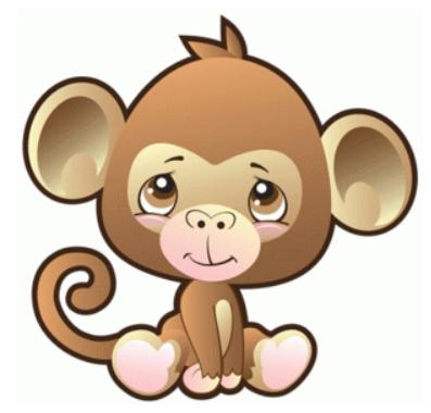 safari monkey by precious moments #74516.