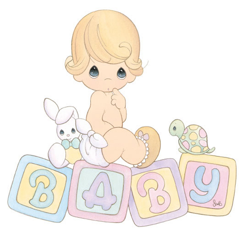 Precious Moments Baby Girl Clipart.