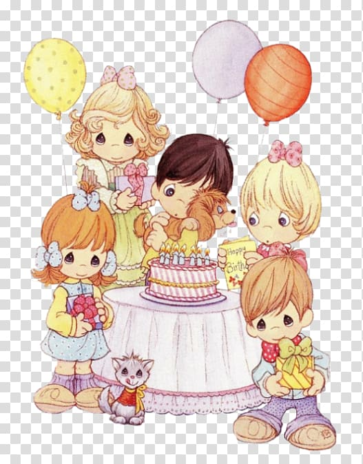Precious Moments, Inc. Happy Birthday Greeting & Note Cards.