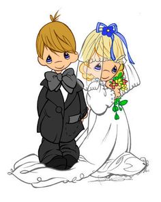 Precious Moments Wedding Clipart.