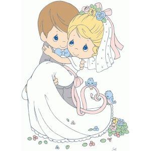 Silhouette Design Store: bride and groom.