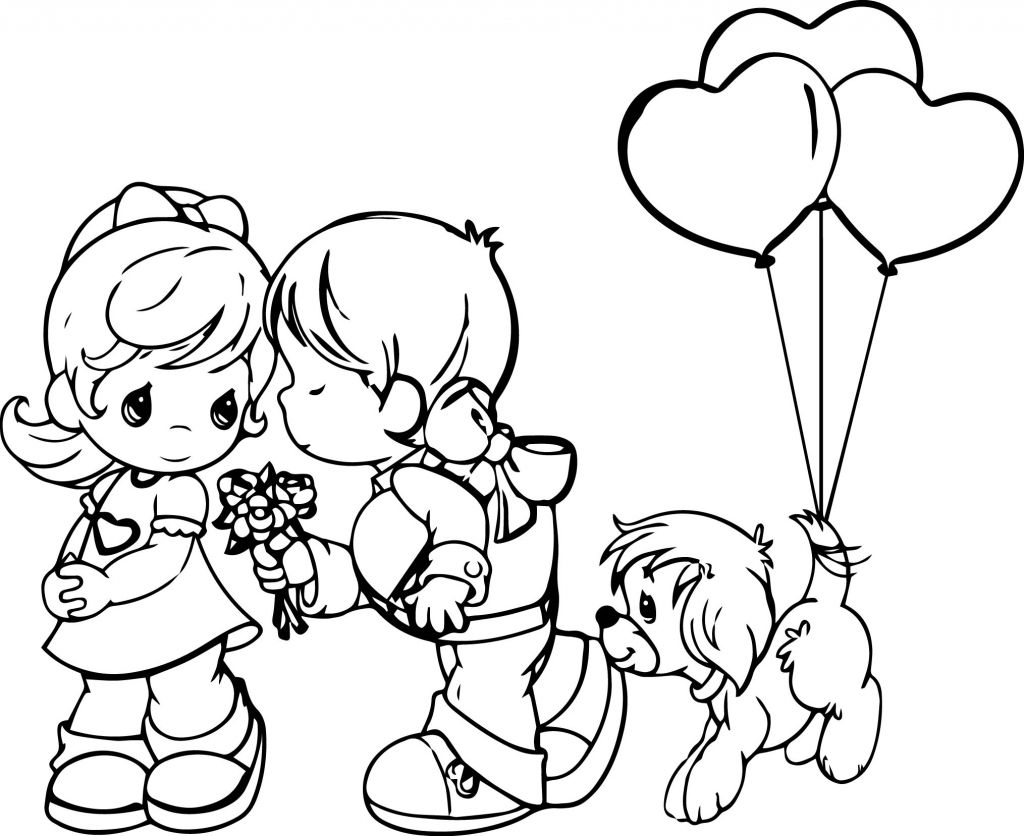 Precious Moments Valentines Day Coloring Pages.