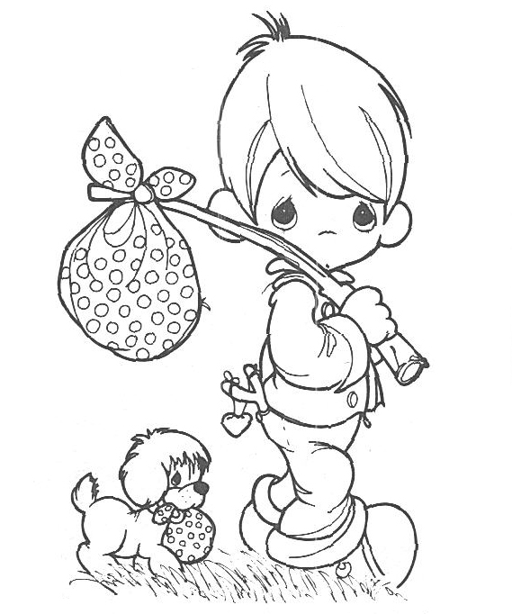 Precious Moments Spring Coloring Pages.