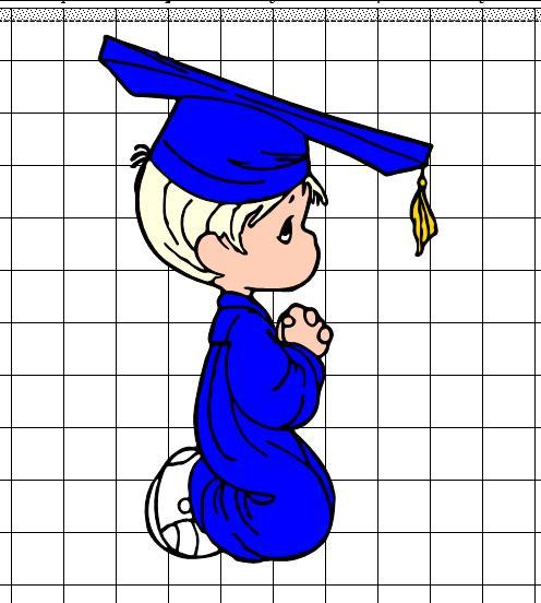 THE HOBBY LADY: Precious Moments Graduation Kids.