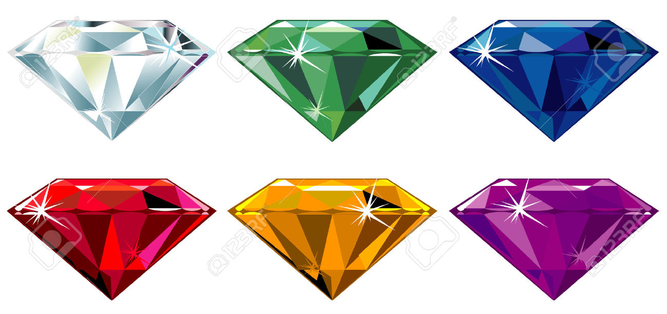 Precious Stones With Sparkle Royalty Free Cliparts, Vectors, And.