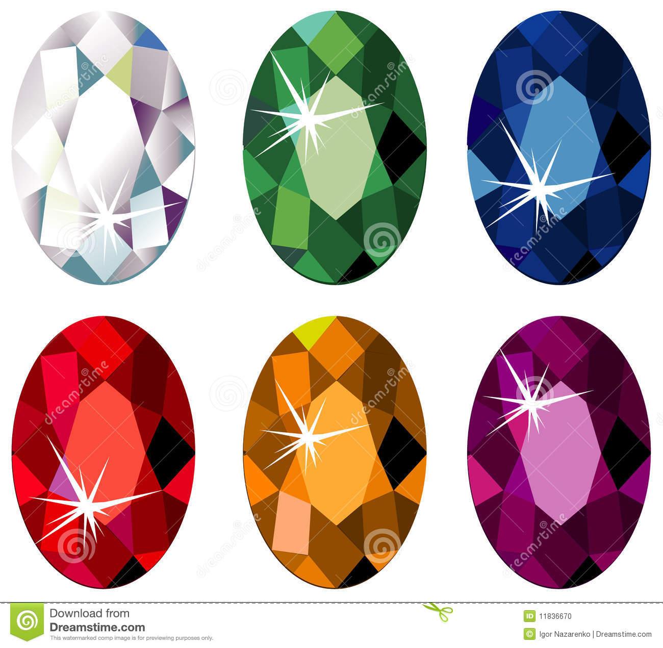 Diamond Cut Precious Stones With Sparkle Royalty Free Stock Photo.