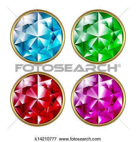 Clip Art of Precious stones k14210777.