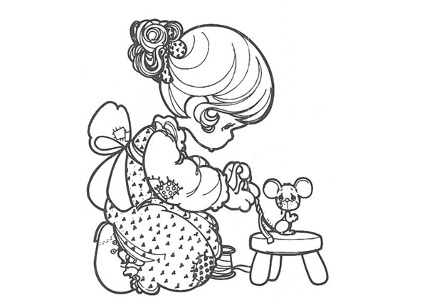 Precious Moments Animals Coloring Pages Eskayalitim