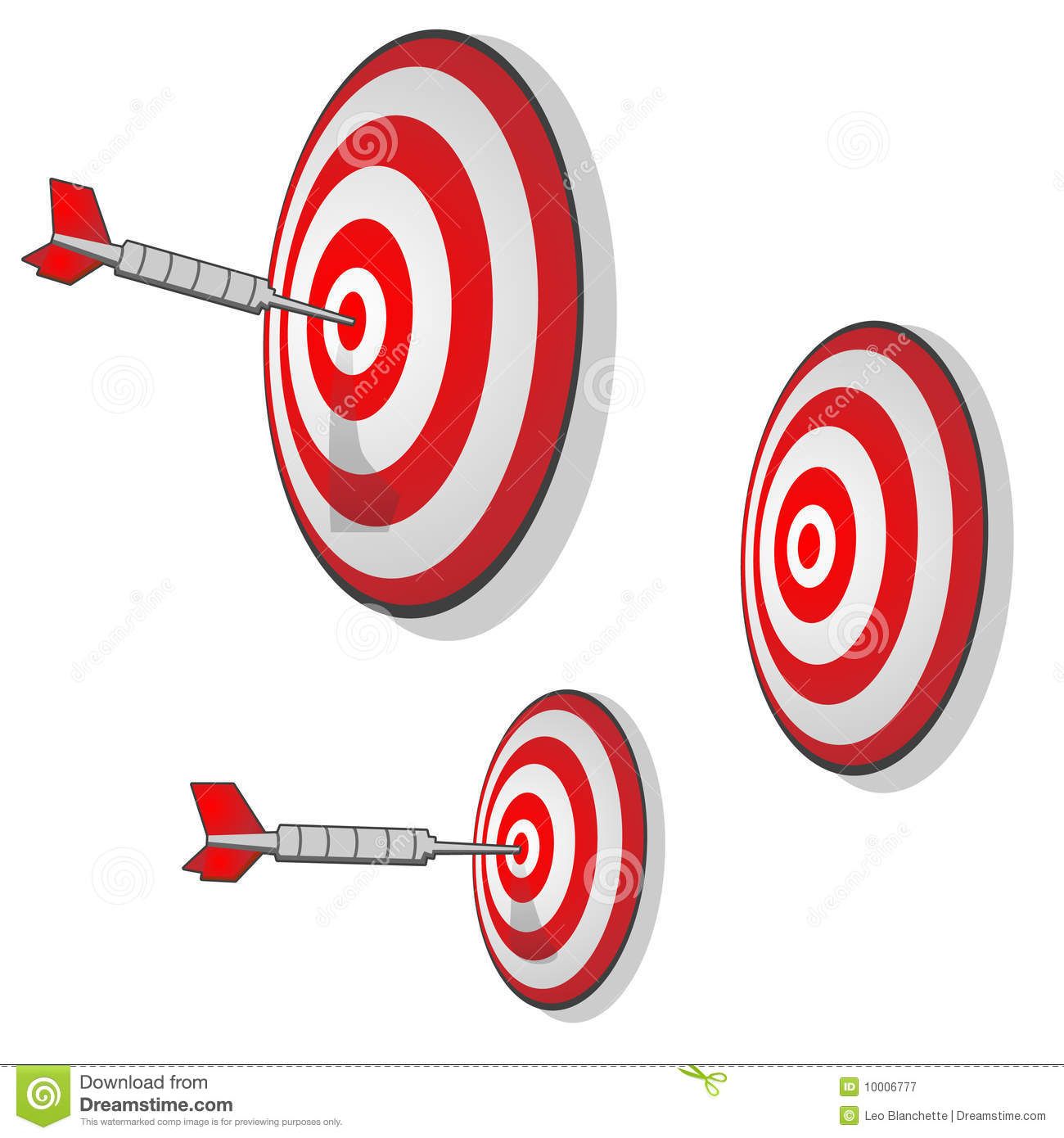 Multiple Targets Precision Aim Darts Royalty Free Stock.