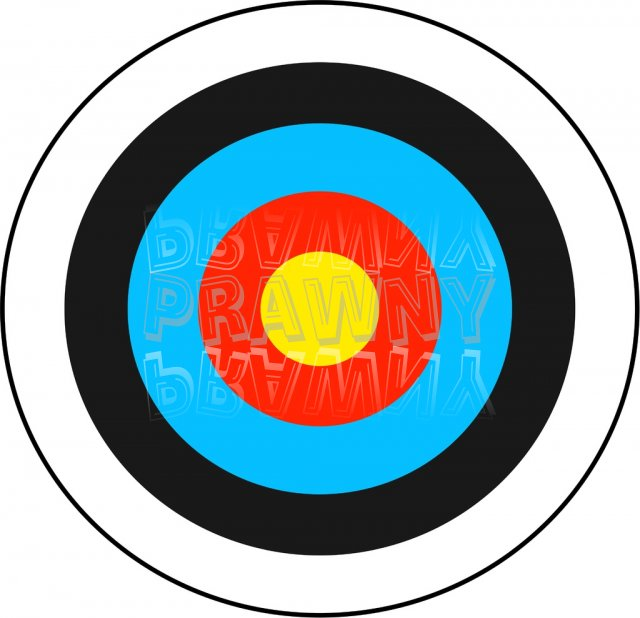 Archery Target Prawny Sport Clip Art.