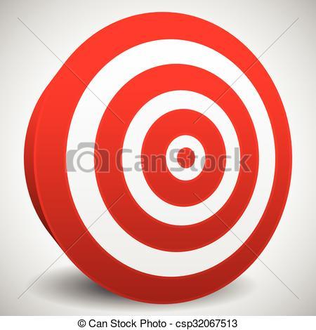 Vector Clip Art of Red target vector icon. Precision, efficiency.