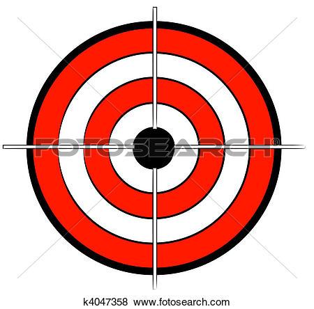 Stock Illustration of red white and black bullseye target k4047358.