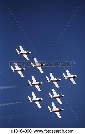 Stock Photography of Canada, Armed Forces precision flying team.