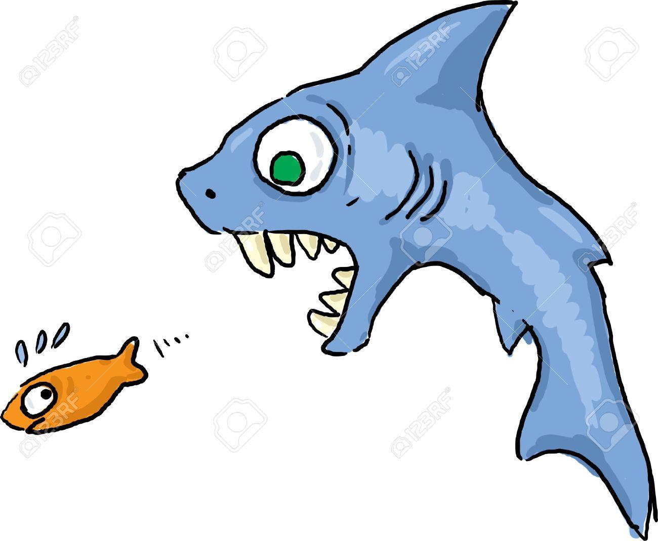 Shark Eating Fish Clip Art.