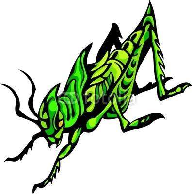 Four Insects Clipart.