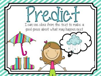 17 Best ideas about Prediction Anchor Chart on Pinterest.