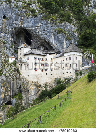Predjama Castle Renaissance Castle Built Inside Stock Photo.
