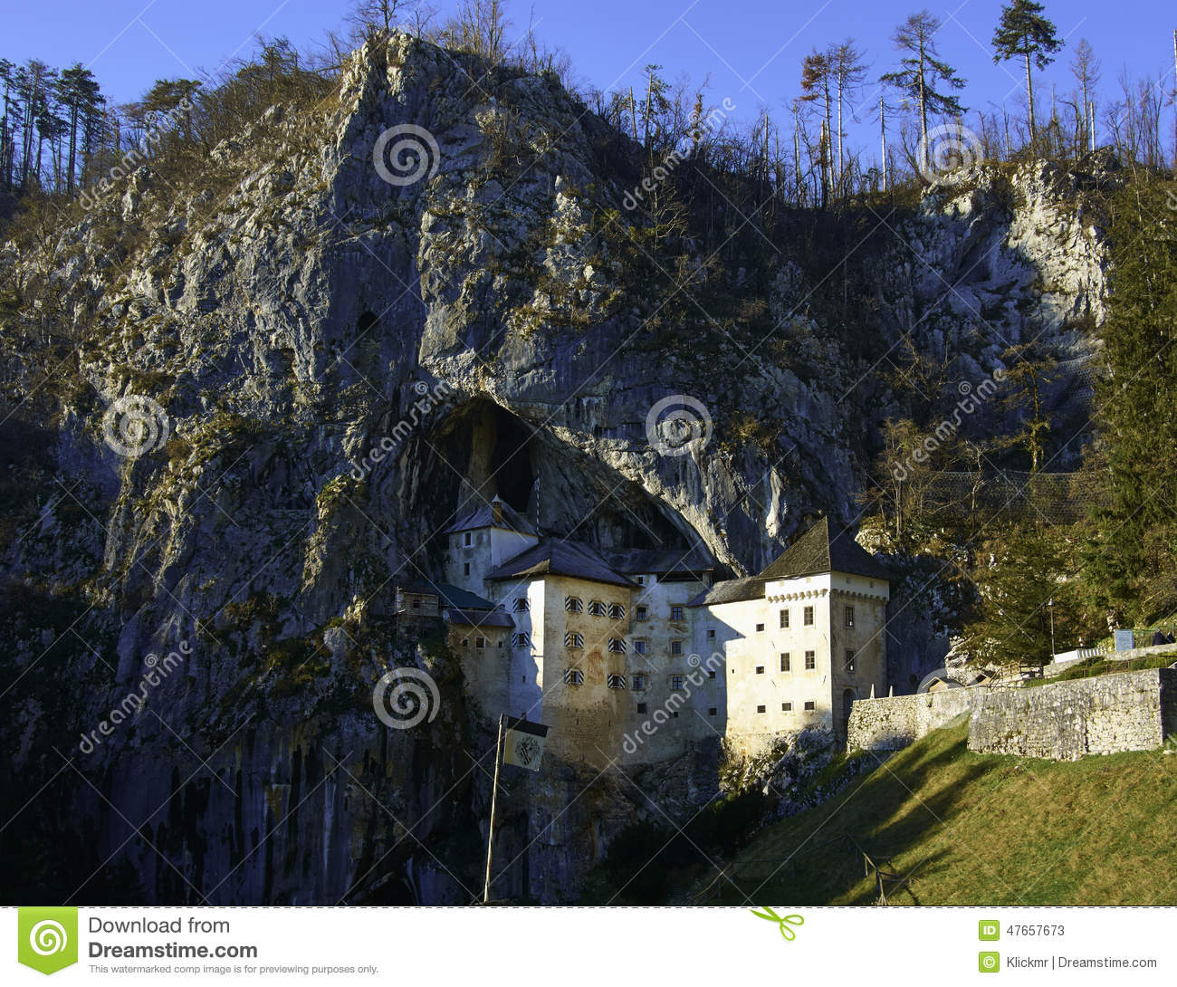 Predjama Castle Slovenia Stock Photo.