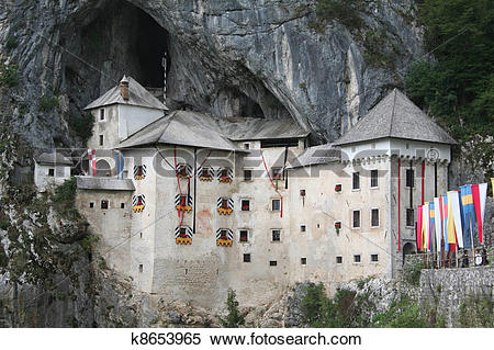 Stock Image of medieval Postojna castle near cave k8653965.