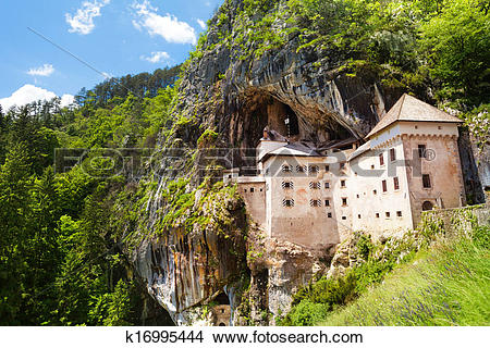 Stock Photo of Predjama castle k16995444.