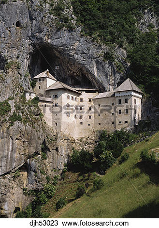 Stock Photo of Slovenia, Predjama, Predjama Medieval Castle.