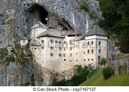 Picture of Predjama Castle also known as Predjamski Grad is a.