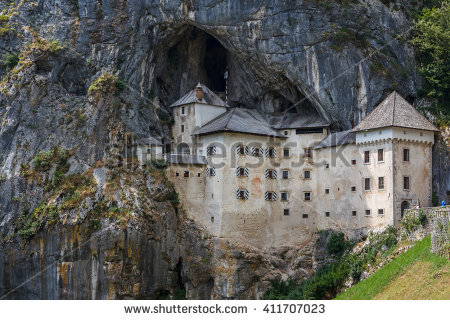 Predjama Castle Stock Photos, Royalty.