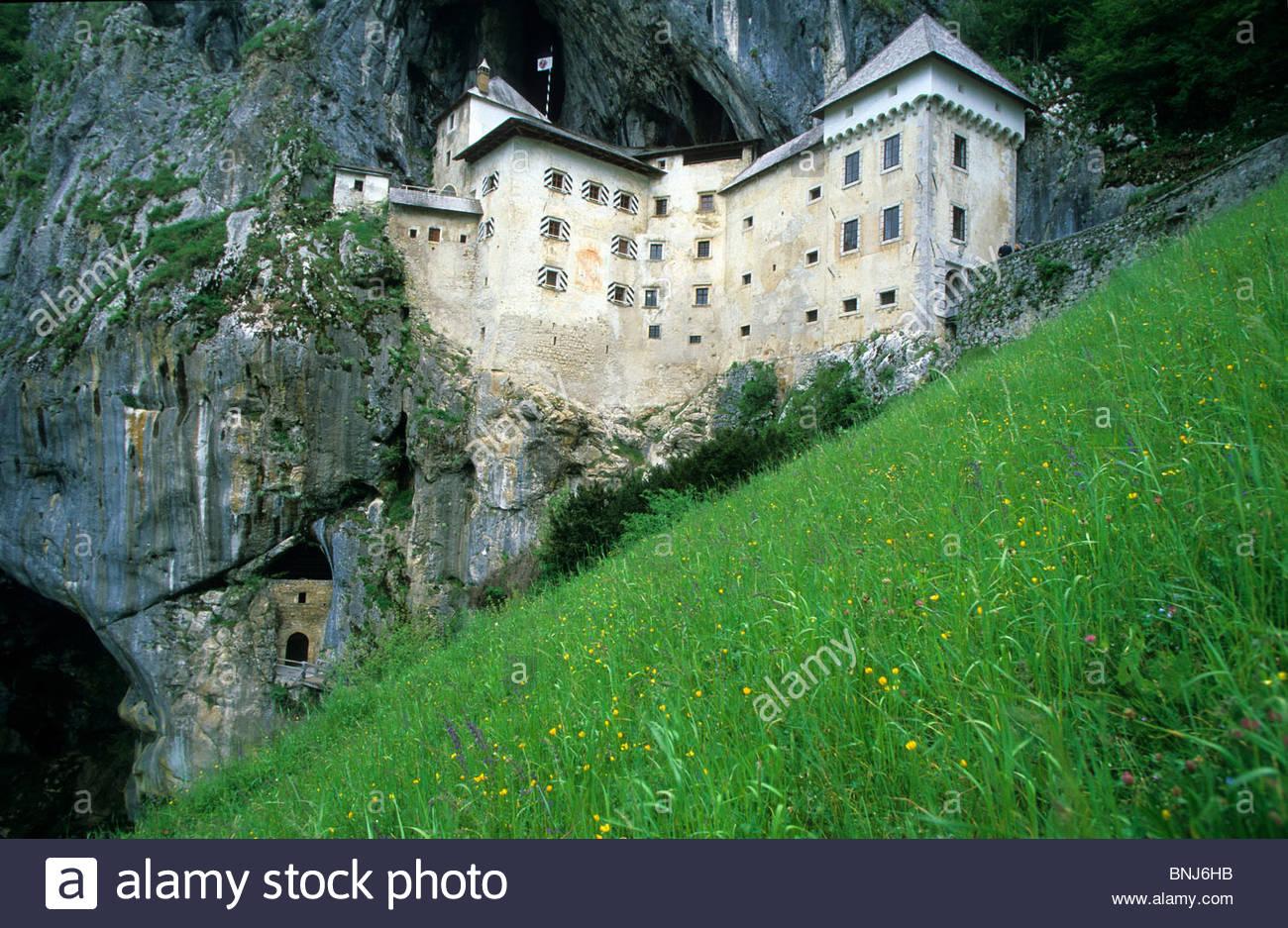 Slovenia Castle Cave Castle Rock Cliff Predjamski Grad Predjama.