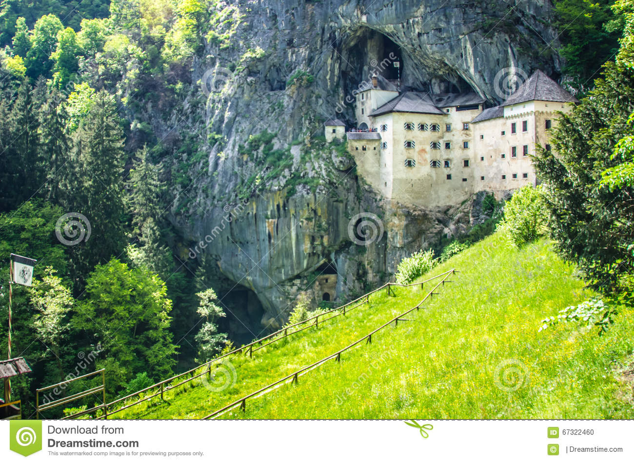 Predjamski Grad In Slovenia. Stock Photo.