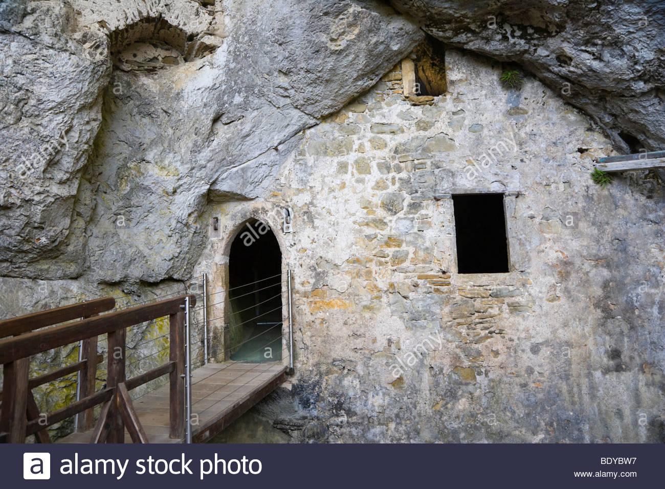 Interior Of Predjama Castle, Predjamski Grad, Near Postojna, Inner.