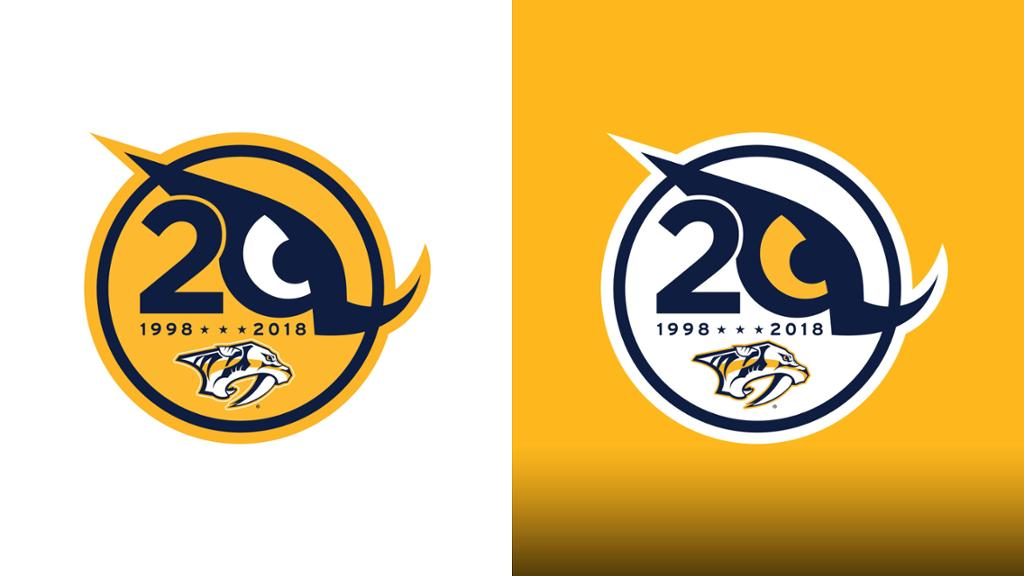 Preds Unveil 20th Season Logo.