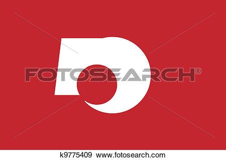Clip Art of Kumamoto pref flag k9775409.