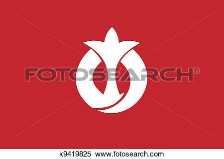 Clipart of Aichi pref flag k9419825.