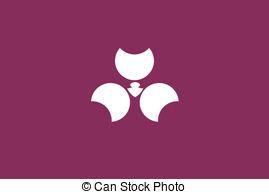 Vector Clip Art of Hiroshima pref flag.