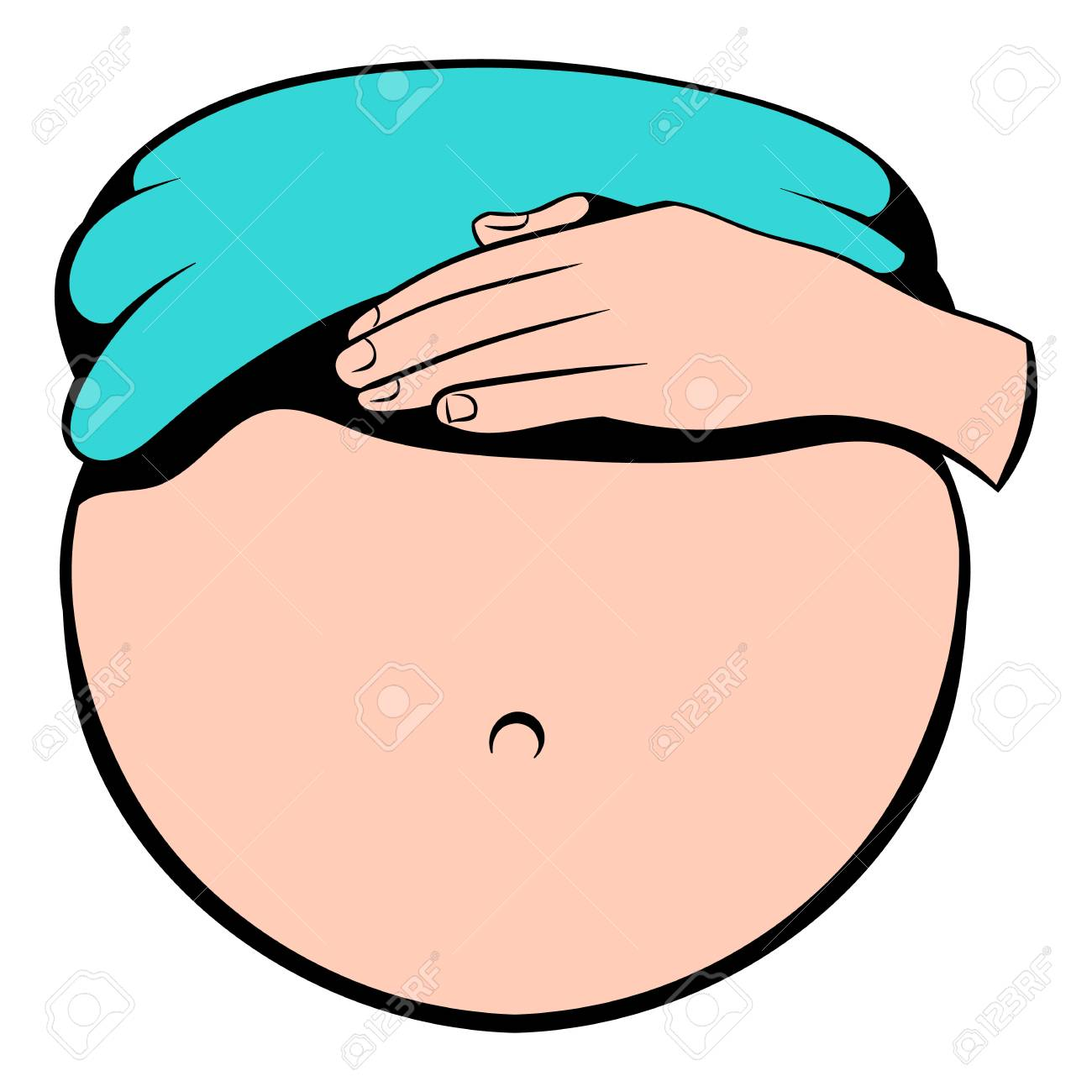 Belly of pregnant women icon, icon cartoon » Clipart Station.