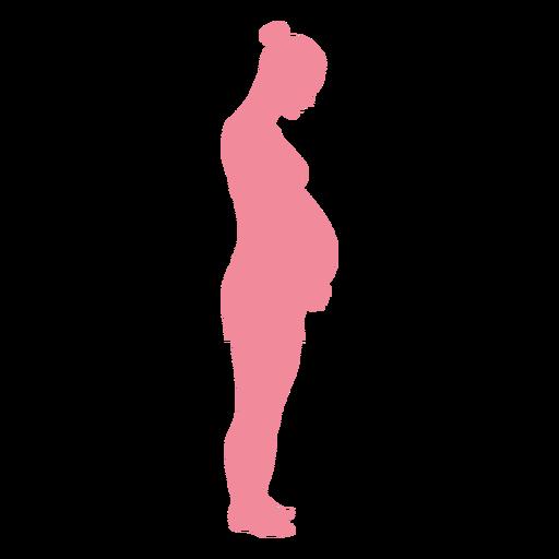 Pregnancy woman belly silhouette.