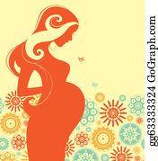 Pregnant Woman Clip Art.