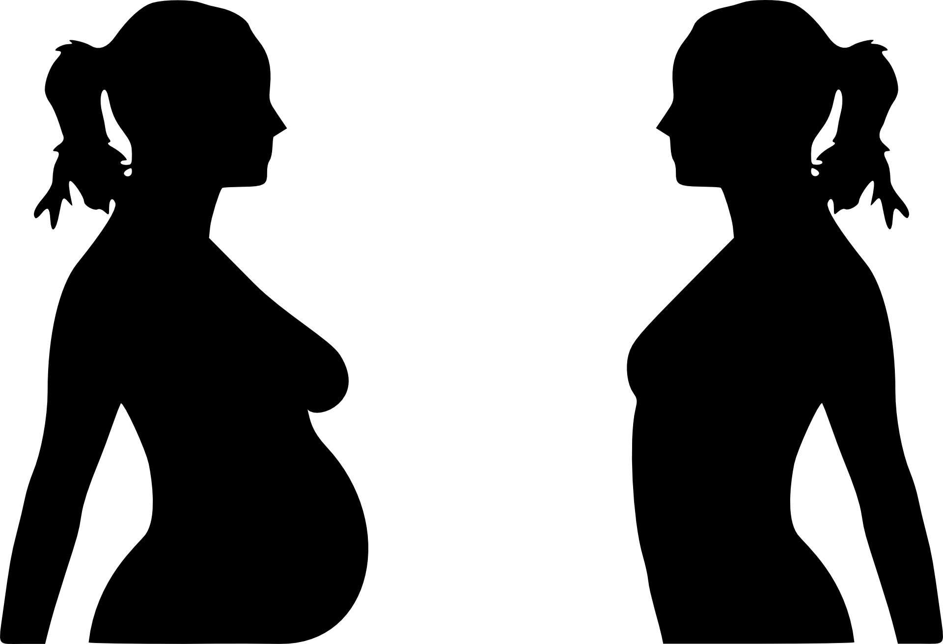 Pregnant Woman Silhouette Clip Art Free N21 free image.