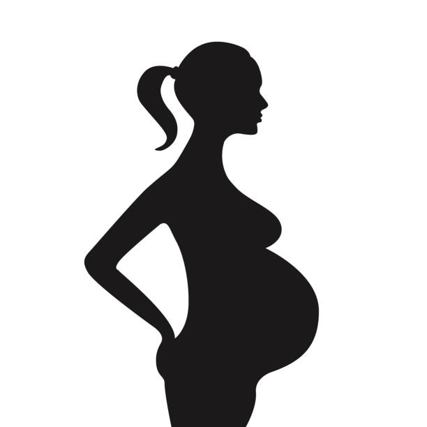 1912 Pregnant free clipart.