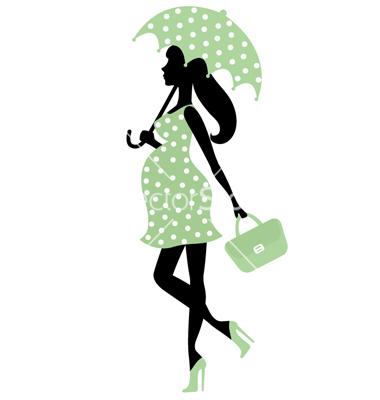 Clip Art Pregnant Woman Baby Shower Clipart.