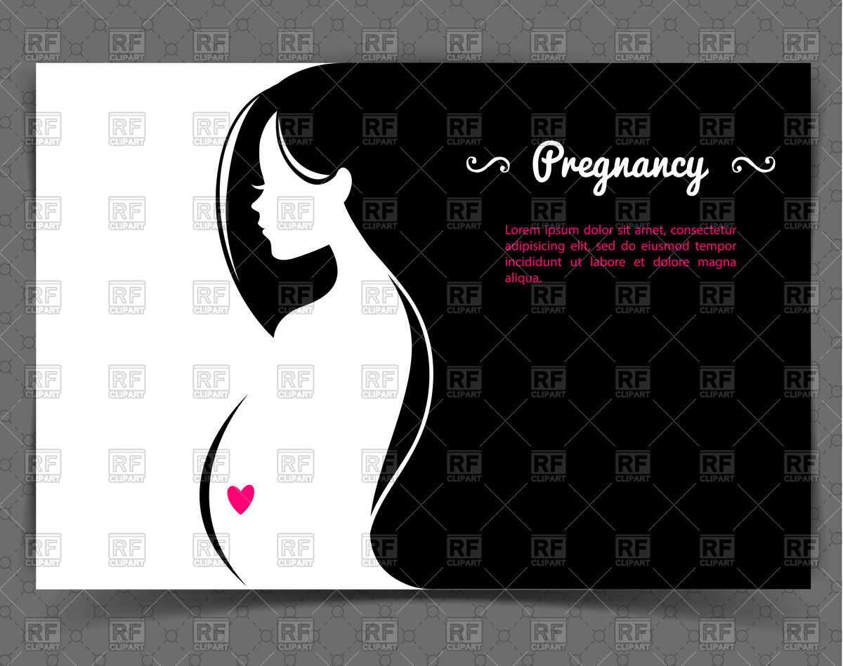 Young pregnant woman.