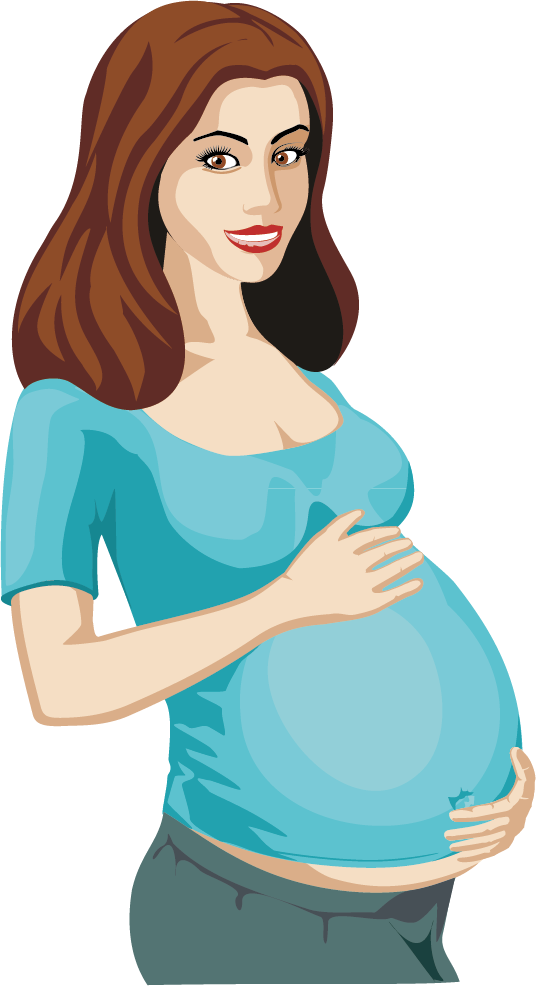 Pregnancy Woman Clip art.