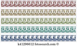Prehispanic Clip Art Vector Graphics. 6 prehispanic EPS clipart.